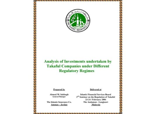 Analysis of Investments in Takaful Insurance