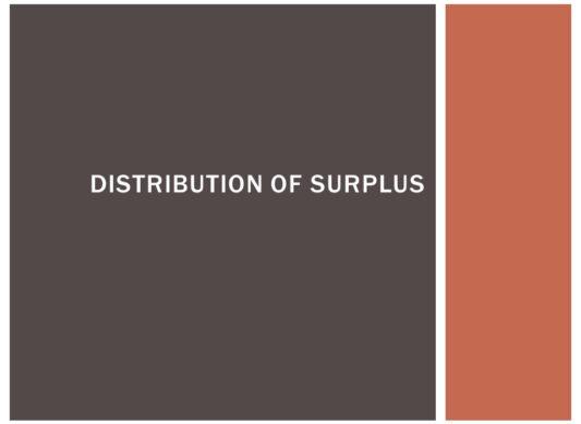 Distribution of Surplus