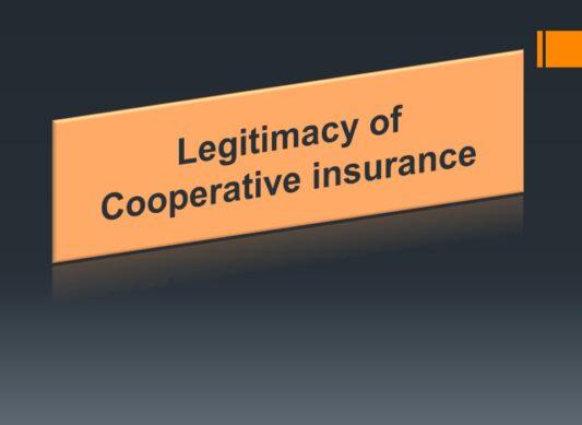 Legitimacy of Cooperative insurance