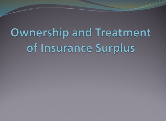 Ownership and Treatment of Insurance Surplus