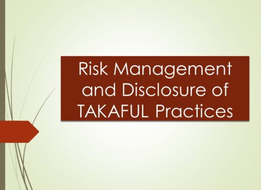 Risk Management and Disclosure of Takaful Practices